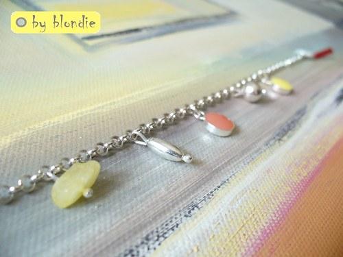 Žužu lemon & peach - náramok striebro Ag 925