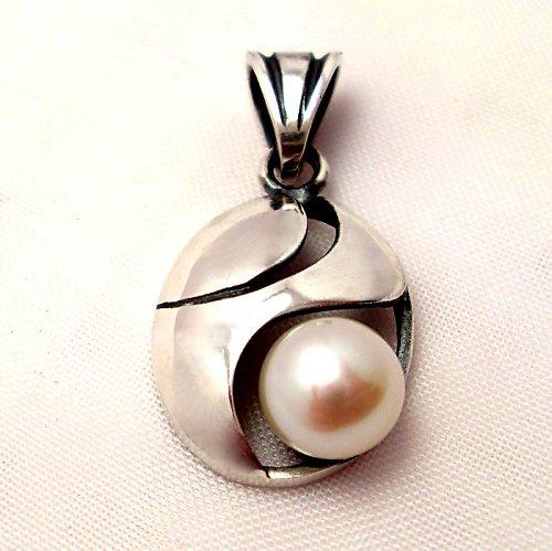 Přívěsek «Břízový vítr» - bílá perla, sAg 925/1000