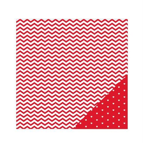 Scrapbookový papír American Crafts / Red Chevron