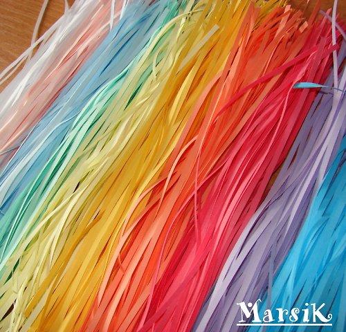 Proužky k výrobě quillingu - pastelové
