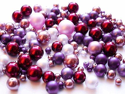 Voskové perle - červenofialová směs