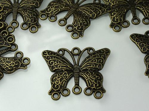 21217 Ramínka bronzová veliký motýl 34/29, bal.2ks