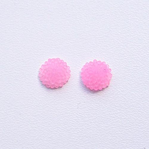 květinka / zamrzlá/ 10mm/ růžová/1ks