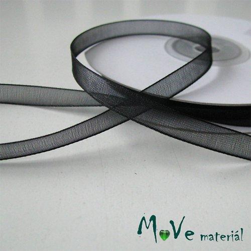 Šifónová stuha černá 6mm, 1m
