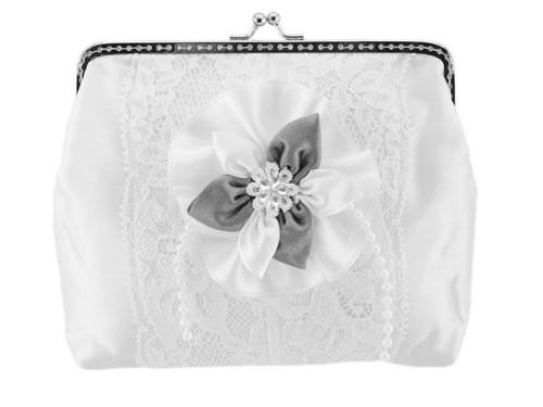 Dámská kabelka bílá, svatební kabelka E2