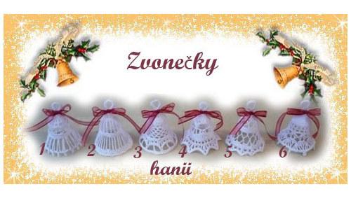 háčkované vánoční ozdoby - zvonečky