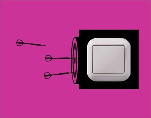 Samolepka k vypínači - Šipky