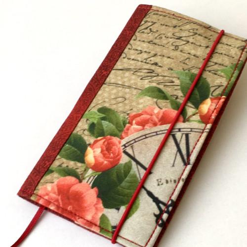 Hodiny v růžích-obal na diář (čtrnáctidenní)