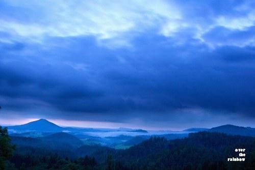 Blue sunset -autorská fotografie, Giclée