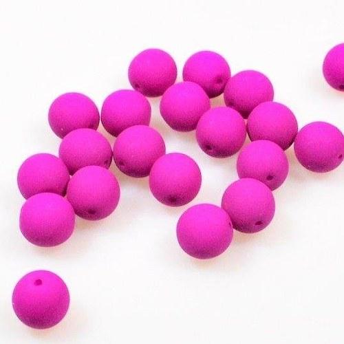 Neonové korálky 50 ks / 8 mm / fialové
