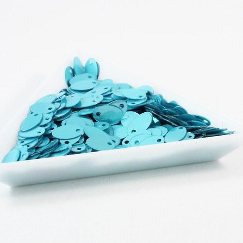 """Flitry \""""oválky\"""" 8 mm modré 5 g"""