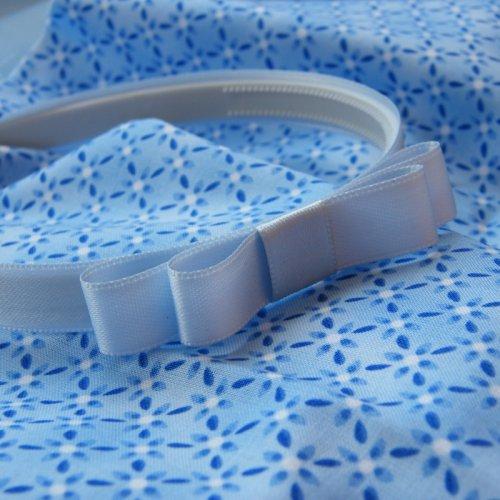 Světle modrá čelenka s mašlí
