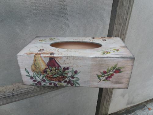 Krabička na kapesníčky olivy