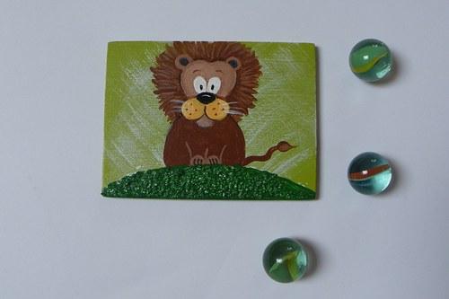 Magnet obdelníkový - lev