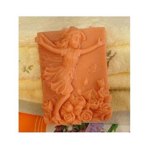 silikonová forma na výrobu mýdla - květinová víla