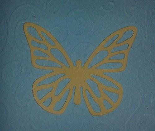 Motýlek - žlutý
