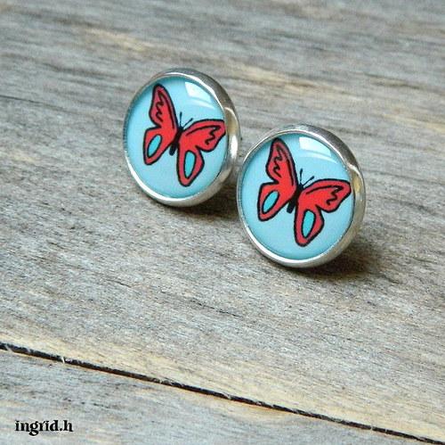 Náušničky Motýlci