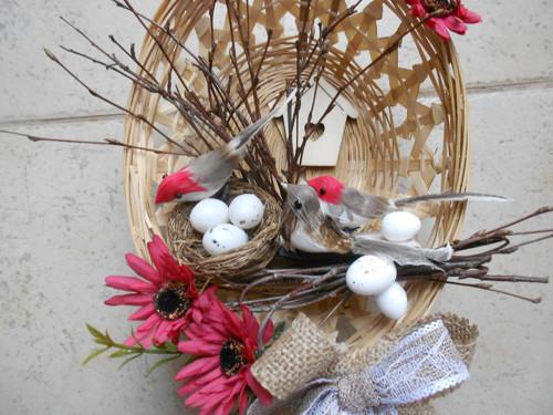 jaro-ptáčci v košíku
