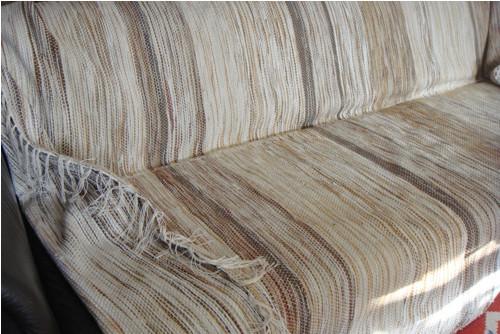 Přehoz na sedačku - ručně tkaný