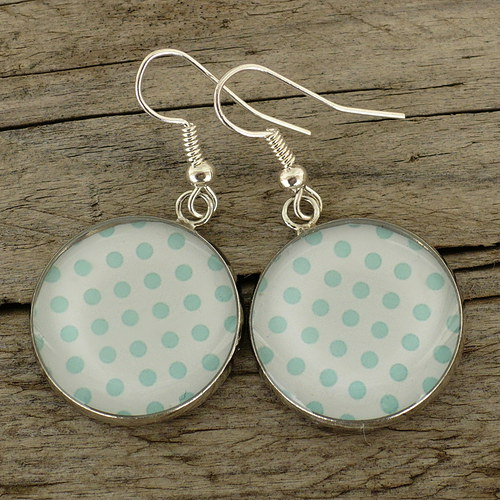 Modré puntíky (náušnice)