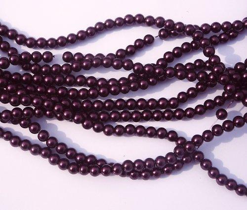 Voskované perle fialové (20 ks)