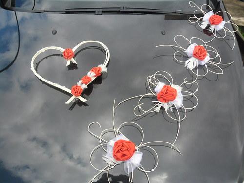 Svatební dekorace - červená