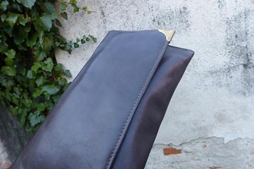 Klasicky...kožená kabelka, psaníčko