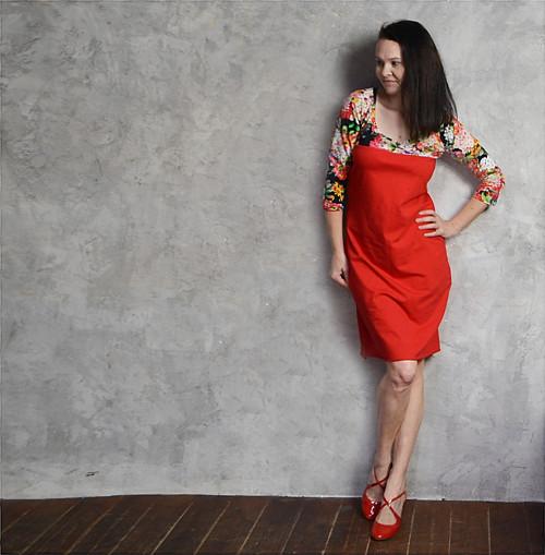 Červená a černá - šaty