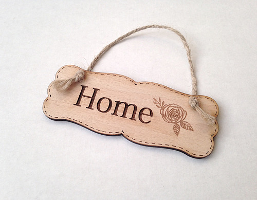 Cedulka Home - přírodní 11cm