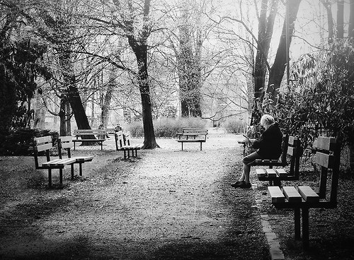 odpočinek v parku