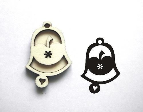 razítko překližka zvonek jablko-v.5x3,5cm