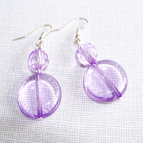 Náušnice fialové akrylky