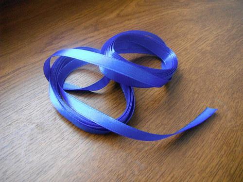stuha atlasová 6mm- modrá