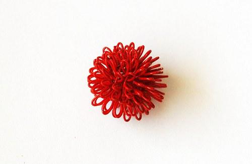 Kulička z drátu - červená