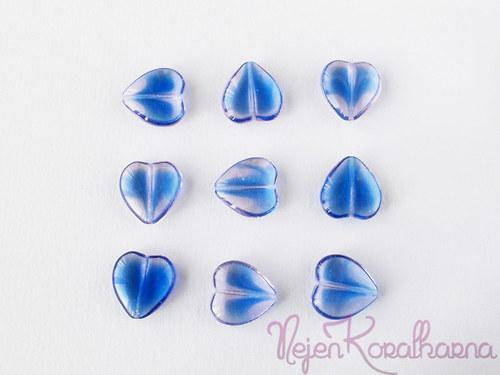 Srdce modro-fialové