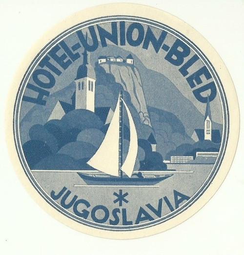 Hotelové nálepky Jugoslavia