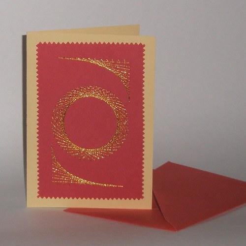 Ornament - červený