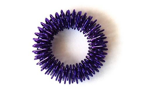 Kolečko z drátku - fialové