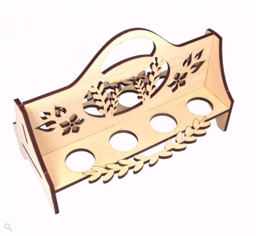 Dřevěný stojánek na VAJÍČKA - na 8 vajec