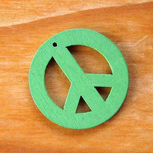 Dřevěný Hippies - Zelený