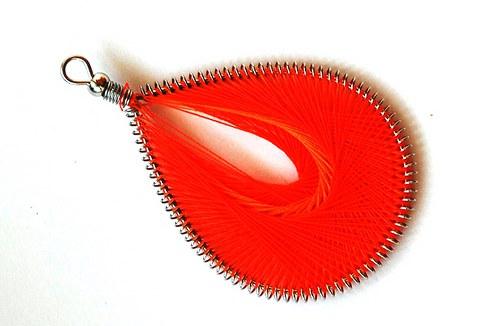 Slza oranžová 45x75mm