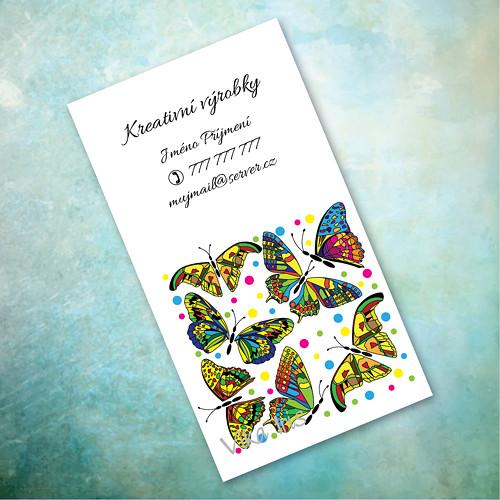 Motýli v kostce 5 - vizitky 200 ks