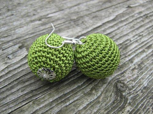 háčkované maxi kouličky- zelená