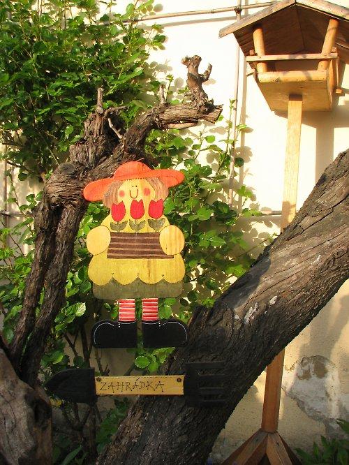 Dřevěná ZAHRADNÍ cedulka