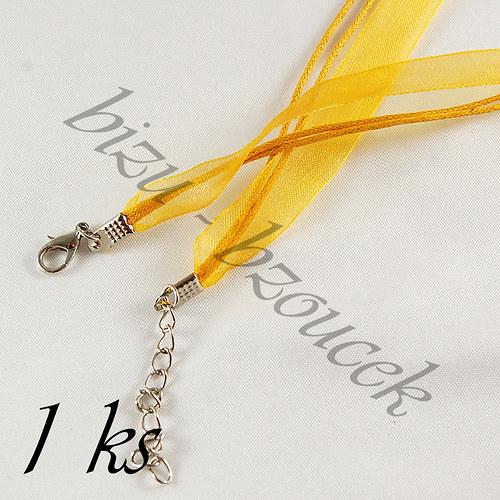 Sytě žlutý náhrdelník - 1ks