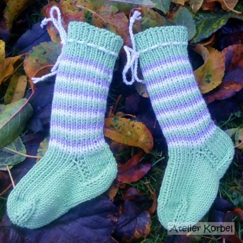 Zelenkavé ponožkonávleky, merino, 11,5 cm