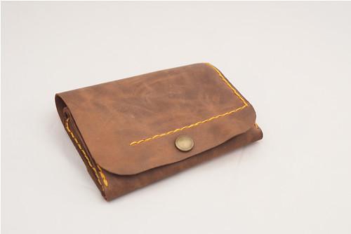Kožená peněženka MontMat -hnědá 2