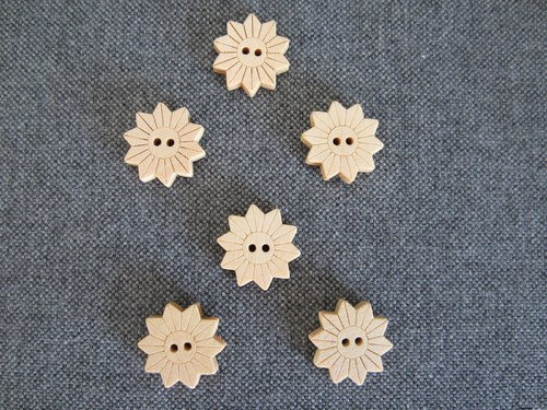 Knoflíky - kytičky, 6ks