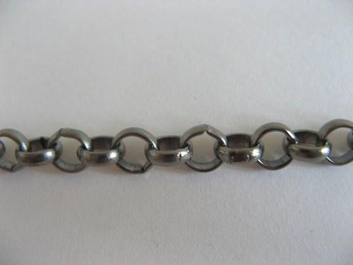 Řetízek AKT0040 - 50 cm - rhodiovaný