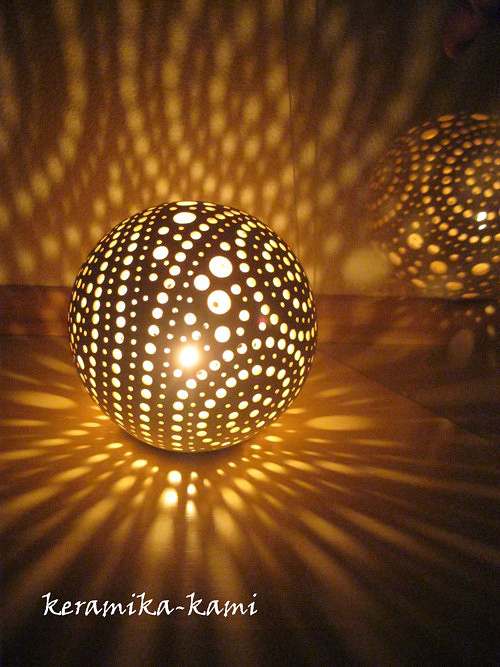 keramická Lampa elektrická  - Mléčná dráha 17cm